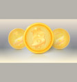 the collection of virtual currency bitcoin with vector image vector image