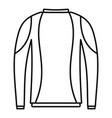 thermo clothes icon outline style vector image