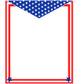 us flag decorative frame vector image vector image
