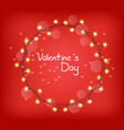 valentine day glowing lights realistic vector image vector image