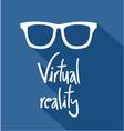 virtual reality icon vector image vector image