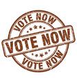 vote now brown grunge round vintage rubber stamp vector image vector image