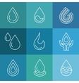 Water linear symbols vector image vector image