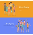 Women and Men Shopping Banners Accessoires on Sale vector image