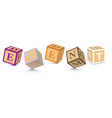 Word EVENT written with alphabet blocks vector image