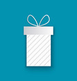wrapped xmas present cut out icon isolated blue vector image vector image