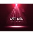 Spotlight effect scene background Background in vector image