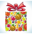 Fruity present vector image