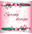 Spring card design vector image