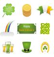 St Patrick's ornaments vector image
