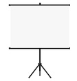 Realistic projector screen icon vector image