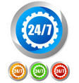 247 badge for repair or manufacturing concepts vector image vector image