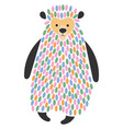 a cartoon bear stylized vector image vector image
