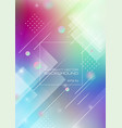 abstract blurred colors background with geometric vector image vector image