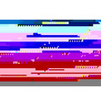 abstract glitched background vector image vector image