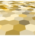 abstract golden hexagonal floor 3d vector image vector image