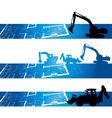 Architectural drawings digger vector image