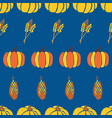autumn background maize plant crop and vector image vector image