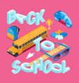 back to school isometric concept 12 vector image