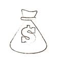 bag money dollar cash sketch vector image vector image