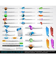 Big collection of headers and footers for your vector image vector image