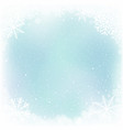 blue sky and snow winter frame vector image vector image