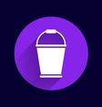 bucket icon button logo symbol concept vector image vector image