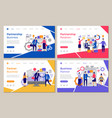 business partners landing web pages template vector image vector image
