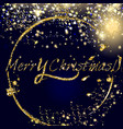 christmas golden and silver glitter particles vector image