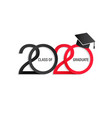 class 2020 elegant card vector image vector image