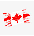 color canada national flag grunge style eps10 vector image vector image