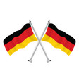 crossed flags germany isolated wave flags of vector image