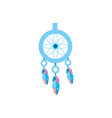 cute dream catcher with feathers design vector image