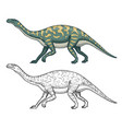 dinosaurs brontosaurus apatosaurus brontosaurus vector image vector image