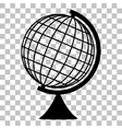 Earth Globe sign Flat style black icon on vector image vector image