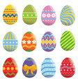 easter egg set collection vector image vector image