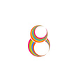 Eight 8 logo abstract colored rings infinity vector image vector image