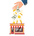 franchise business for sale vector image vector image