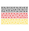 german flag pattern of atom icons vector image