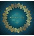 Golden damask circle vector image