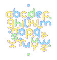 hexagonal mbe alphabet vector image