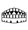 isolated soccer stadium icon vector image vector image