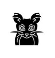 monster mouse black icon sign on isolated vector image vector image