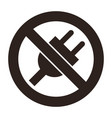 no plug icon vector image