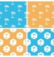 Palm tree pattern set colored vector image