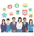 project team man and woman business characters vector image