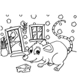 Rat Colouring Pages vector image