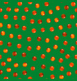 realistic detailed 3d red caviar seamless pattern vector image vector image