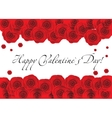 red roses frame over white background copyspace vector image