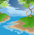 river and forest vector image vector image